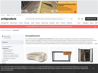 archiproducts : ameublement