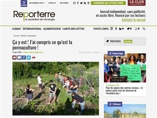 Reporterre : à propos de permaculture