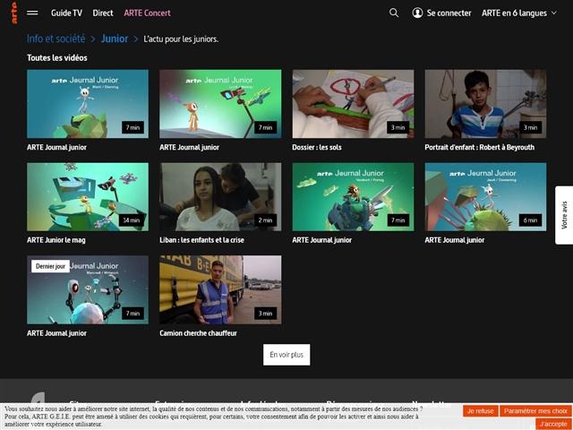 Arte : Vidéos Info et Société pour les Juniors