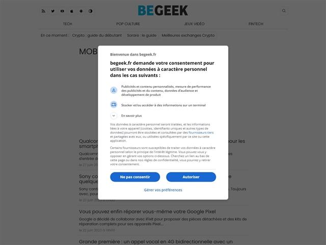 Be Geek : Mobile