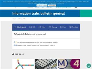 RATP : Trafic