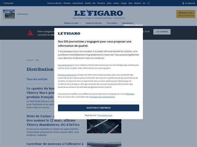 Le Figaro : Distribution