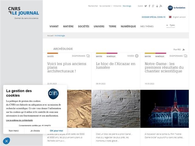 CNRS : Le Journal : Archéologie