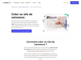 E-monsite.com : Créer un site de naissance