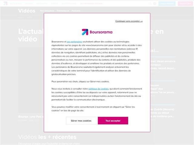 Boursorama Actualité en Vidéo : Bourse, Economie et Finance