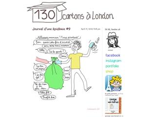 130 cartons à London