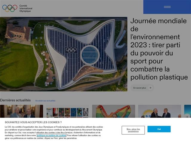 Site officiel du Mouvement Olympique