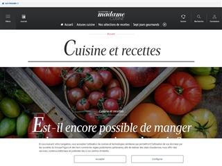 Madame Figaro : Recettes