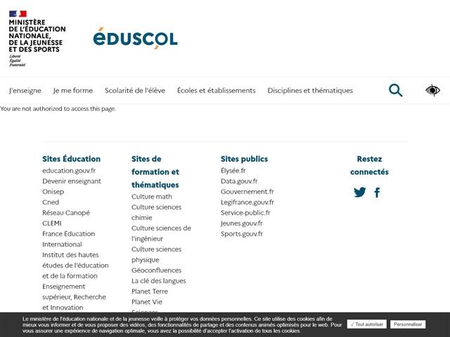 Eduscol Education : Opération Nation Apprenante