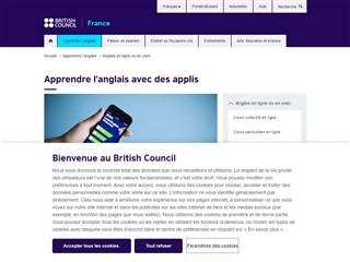British Council : Applications pour apprendre l'anglais