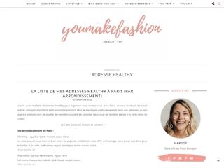 You Make Fashion : Adresses Healthy Paris