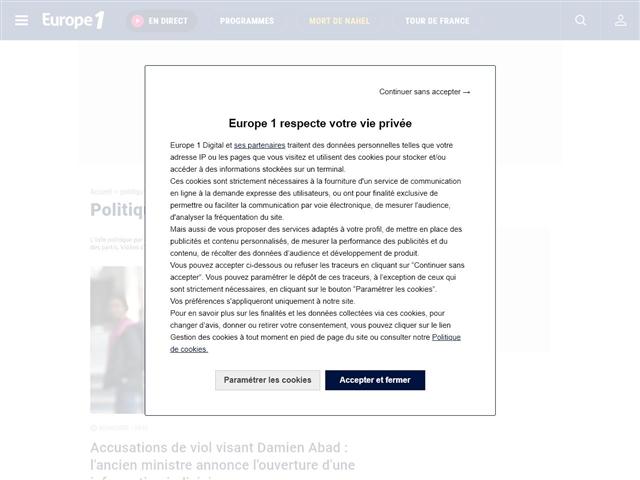 Europe 1 : Politique
