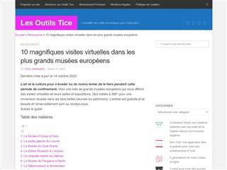 OutilsTice : Visites Virtuelles Musées