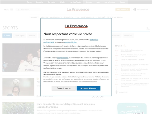 La Provence : Sports
