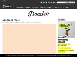 Deedee : Adresses Paris