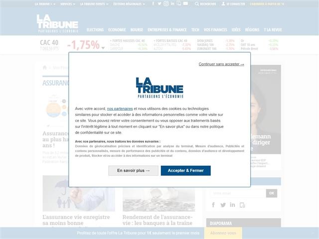 La Tribune : Assurances vie