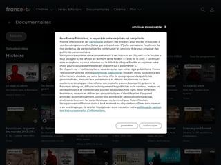 FranceTV : Documentaires Histoire