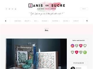 Janis en Sucre : Les Box