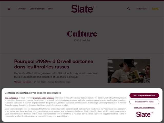 Slate : Culture