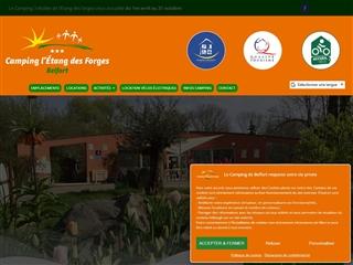 Camping Etang des Forges à Belfort Aussi pour PMR
