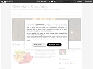 Grelinette et Cassolettes