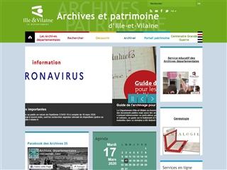 Ille et Vilaine (35) - Archives départementales
