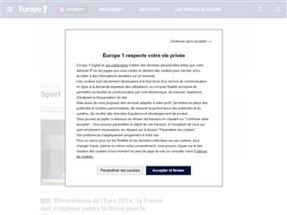 Europe 1 : Sport