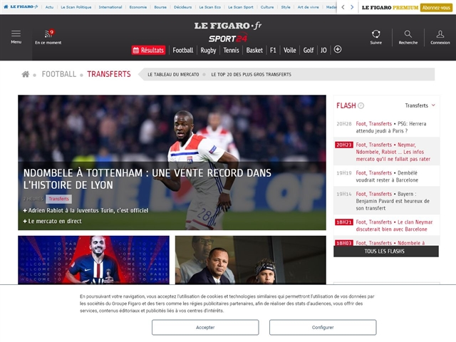 Sport24 : Football - Transferts
