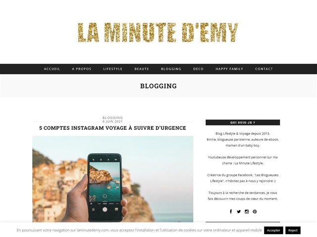 La Minute d'Emy : Blogging