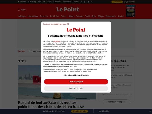 Le Point : Sport