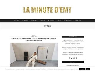 La Minute d'Emy : Mode