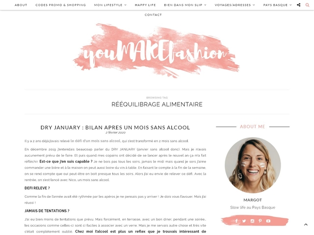 You Make Fashion : Rééquilibrage Alimentaire