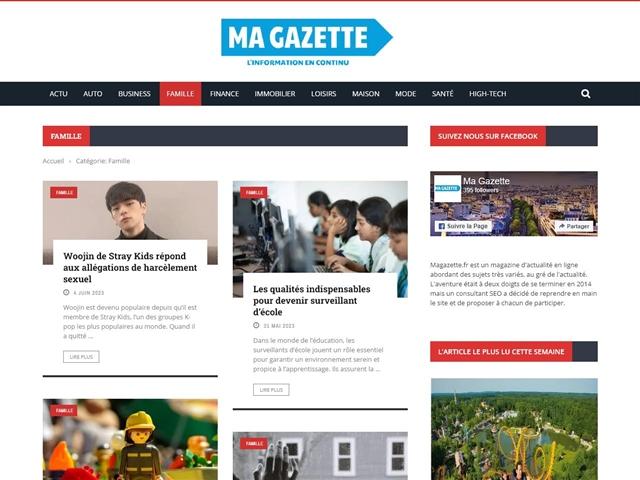 Ma Gazette : Famille