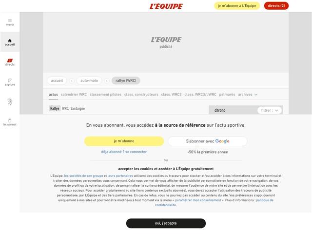 L'Équipe : Rallye