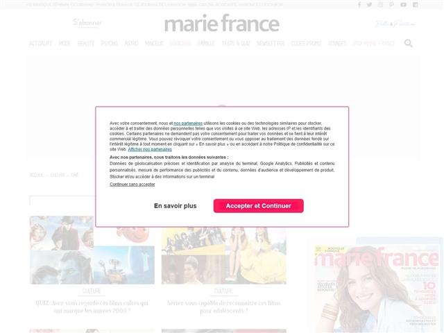 Marie France : Ciné