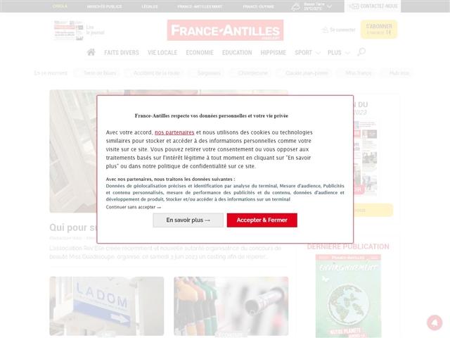 FRANCE-ANTILLES : GUADELOUPE