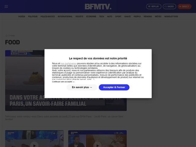 BFM TV : Gastronomie