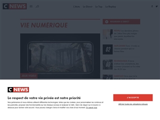 Cnews Matin : Vie numérique