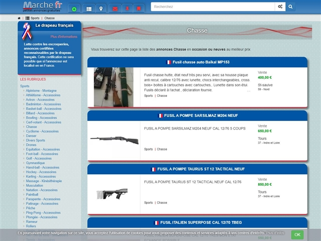 Marche.fr : Chasse