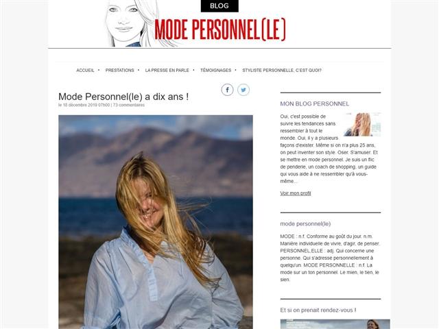 mode personnel(le)