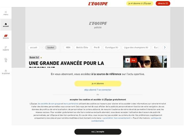 L'Équipe : Basket