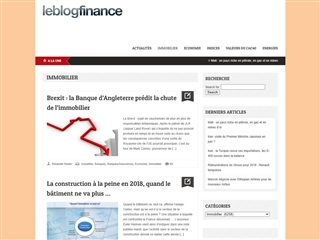Le Blog Finance : immobilier