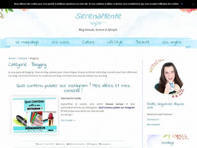 SerenaMente : Blogging