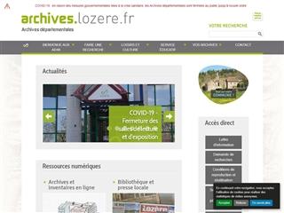 Lozère (48) - Archives départementales