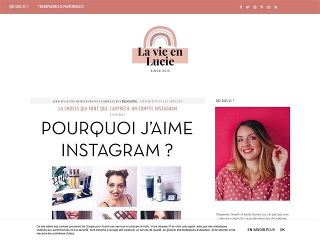 La Vie en Lucie : Blogging