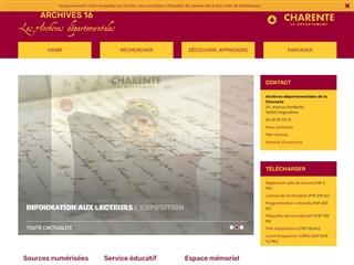 Charente (16) - Archives départementales