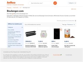 Kelkoo : Boulanger