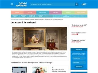 L'Officiel des Spectacles : Expos Musées en Ligne