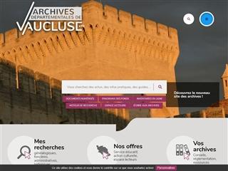 Vaucluse (84) - Archives départementales