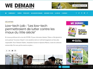 WeDemain : Tech et Sciences